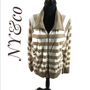 Stylish full zip jacket/top by New York&co